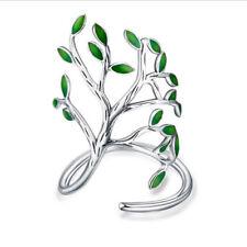 Valentine's Gift Handmade Vintage Leaf Style Platinum Plated Adjustable Rings