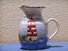 Patton Handmade Stoneware Pottery Lighthouse Pitcher, Costa Mesa, CA