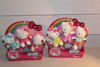 Lot New NIP 2 Sets Hello Kitty Friends Mini Plush 6 Dolls Friends Dreams
