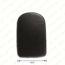 Black Rectangular Backrest Sissy Bar Cushion Pad For Kawasaki Honda Suzuki Harle