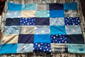 Pet Cat Dog Puppy Fleece patchwork Warm Blanket blue