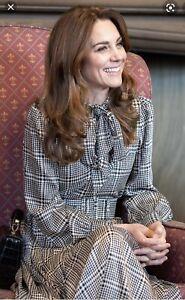 Zara houndstooth dress Size M ASO Kate Middleton
