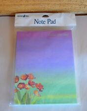 New LEANIN' TREE Inspirational Note Pad Seize the Day Purple Floral #SNP63017