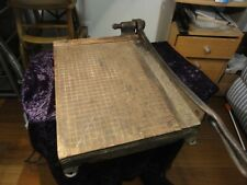 "New ListingVintage Paper Cutter ""The Popular"" 12"" X 16"" Blade and Cast Iron Handle"