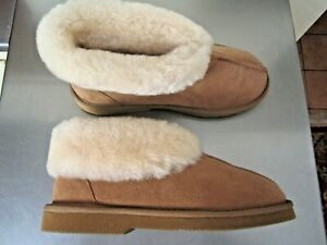 GROSBY Princess UGG Boots Genuine Sheepskin Suede Leather Slippers Sz 9 AS NEW.