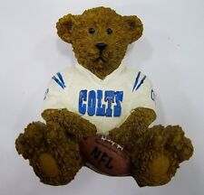 Indianapolis Colts NFL Football Ceramic Mini Teddy Bear Figurine by Elby Gifts