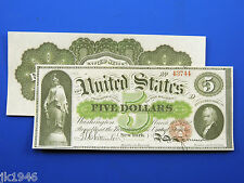 Reproduction $5 1862 Legal Tender Note Us Paper Money Currency Copy