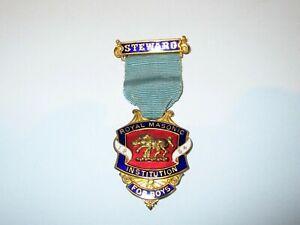 Royal Masonic Institution for Boys Steward Jewel 1954