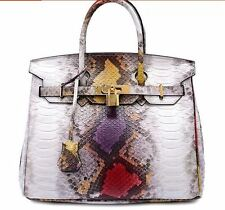 Geniun Leather Women Birkin Style Designer Inspired Crossbody Bag NO LOGO 30CM