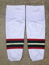 NHL Minnesota Wild REEBOK Edge Pro Stock Hockey Socks Extra Large XL White 1001