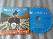 CD-SIMON SAYS-KARIMA-TUBE ORIENTAL-I LOVE YOU DEEP INSIDE-(CD SINGLE)99-2TRACK