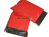 OFFER 1000 RED Plastic Mailing Bags 6x9 mm 6.5x9 165x230mm 6 x 9 POLY POSTAL dvd