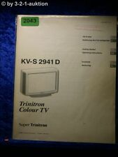 Sony Bedienungsanleitung KV S2941D Color TV (#2043)