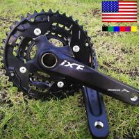 IXF 104/64bcd 170mm Aluminum Triple Speed MTB Road Bike Chainring Crank Crankset