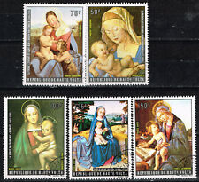 Uper Volta Art Famous Madonnas Paintings set 1972