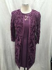 ADRIANNA PAPELL DRESS &JACKET/NEW WITH TAG/SIZE 8//RETAIL$180/LACE DRESS