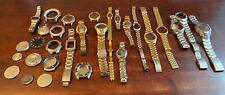 Lot of Mostly Mens Watch Cases Backs Bands Seiko Gruen Fossil Timex Citizen more