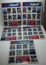 New York Post Sticker collection 2004 NY Giants on original sheet unused