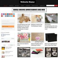 SCRAPBOOKING STORE - Work From Home Affiliate Website Business For Sale + Host