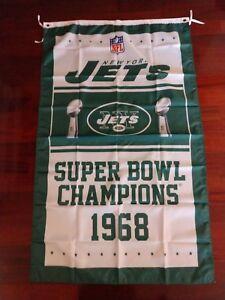 New York Jets Super Bowl Champions 3x5 Banner Flag. US seller!!!