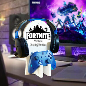 Xbox Ps4 Gaming Headset & Controller Stand/Holder Fortnite  Personalised #