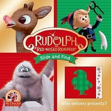 SLIDE AND FIND - RUDOLPH THE RED-NOSED REINDEER - NEW HARDCOVER BOARD BOOK