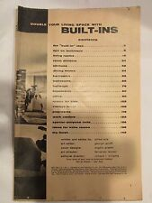 DOUBLE YOUR LIVING SPACE WITH BUILT - INS 1955 DELL - NO COVER JUST GUTS - RETRO