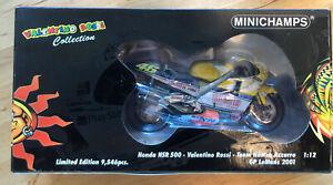 Valentino Rossi. Honda NSR500. GP LeMans2001. Minichamps 1/12 New