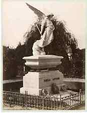 Italie, Milano, Cimitero  Vintage albumen print Tirage albuminé  18x24  18