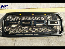 2015-17 Ford F150 OEM Raptor Style FRONT Bumper Grille BLACK w/ LED F&R Letters