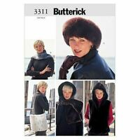 Butterick Sewing Pattern 3311 Misses Vest Headwrap Headband Scarf Bag Size XS-S
