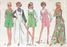 McCalls 9711 Pattern VTG 60s Mod Dress Jumpsuit Blouse Hip Jr Size 7 Uncut