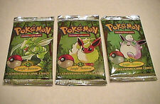 Pokemon Jungle (Lot of 3) Sealed Unlimited Booster Packs  *1 of each Artwork*