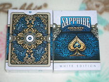 1 deck Unbranded White Sapphire Ornate Playing Cards  by HOPC~USPCC-S10317984-E1