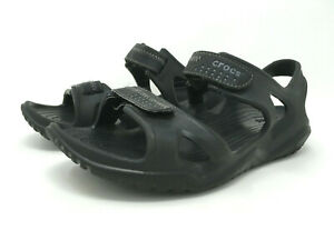 Crocs Sandlals Mens Swiftwater River Hook Loop Strap Size 7 Sport 203965 Black