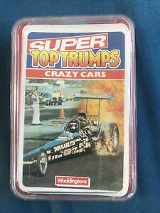 Crazy Cars Super Top Trumps Waddingtons Non CE Title Red Cheesebox Quartet