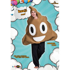 Le Halloween Men's Women's Poop Expression Emoticon Cosplay Stage Costume Hooded