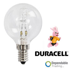 3x Duracell 42w = 60w SES E14 Transparent HALOGÈNE Économie d'Énergie