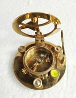 Vintage nautical Compass brass Sundial working Astrolabe compass West London 3""