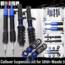 Coilover Suspension Lowering Kits BLUE for 10-13 Mazda 3 Sedan 4 Door