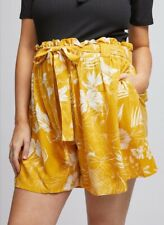 Dorothy Perkins - Maternity Yellow Floral Shorts - Size 8 - BNWT