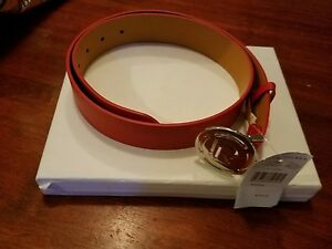 Ralph lauren 1 & 1/2 Inch Deco Belt Red NWT List Price $295 Available in L