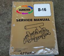 Burkeen B16 Walk Behind Trencher Service Manual repair shop maintenance book Oem