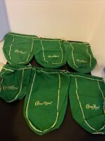 CROWN ROYAL BAG GREEN  WITH DRAW STRING  Lot