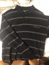 Yves Saint Laurent Mens Jumper Long Sleeve Shirt Polo YSL Spell Out
