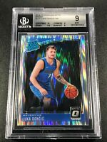 LUKA DONCIC 2018 DONRUSS OPTIC #177 SHOCK REFRACTOR ROOKIE RC BGS 9 W/ 9.5 10
