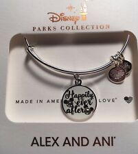 Disney Alex & And Ani Happily Ever After Mickey Silver Bracelet