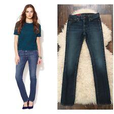 AG The Premiere Skinny Straight Dark Wash Jean, Size 25 $178 Anthropologie