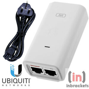 New Ubiquiti Unifi Poe Injector 24V 12W Injector with UK power cable - UK STOCK