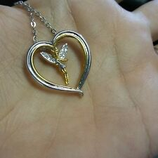 Disney Tinkerbell Heart Quote Believe Necklace....NOW ON SALE